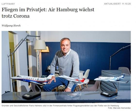 Fliegen im Privatjet: Air Hamburg wächst trotz Corona