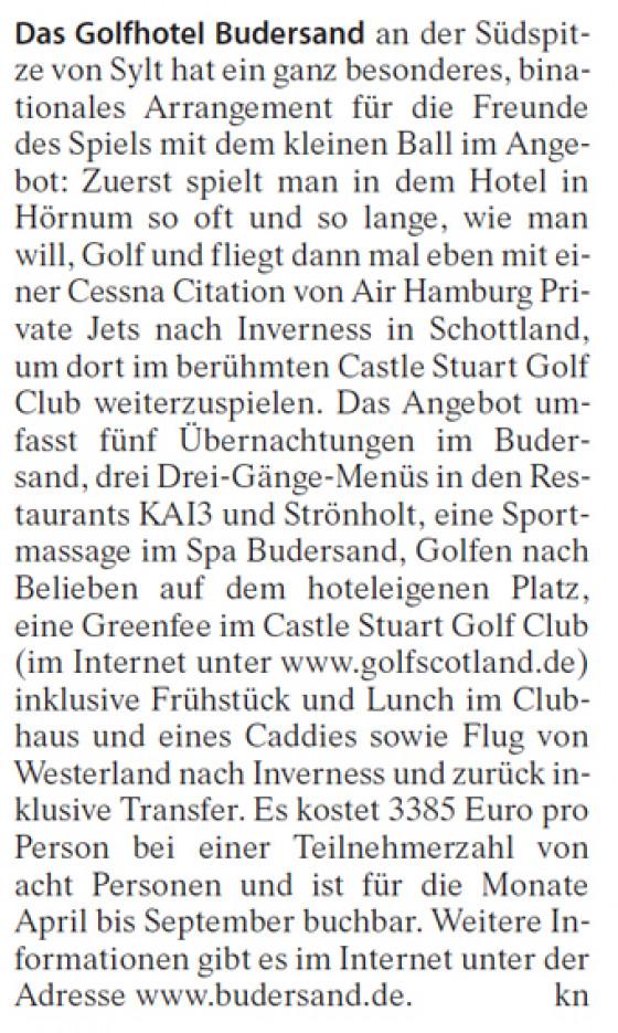 Das Golfhotel Budersand